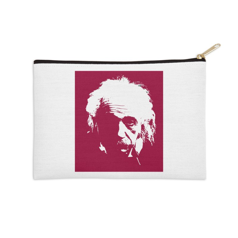 Albert Einstein Accessories Zip Pouch by Matthew Lacey-icarusismartdesigns