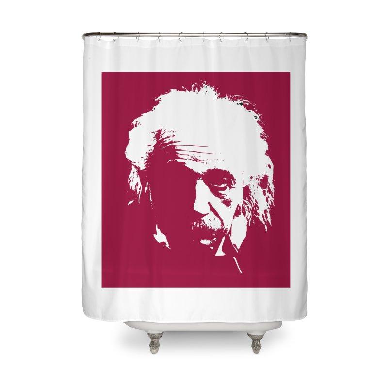 Albert Einstein Home Shower Curtain by Matthew Lacey-icarusismartdesigns