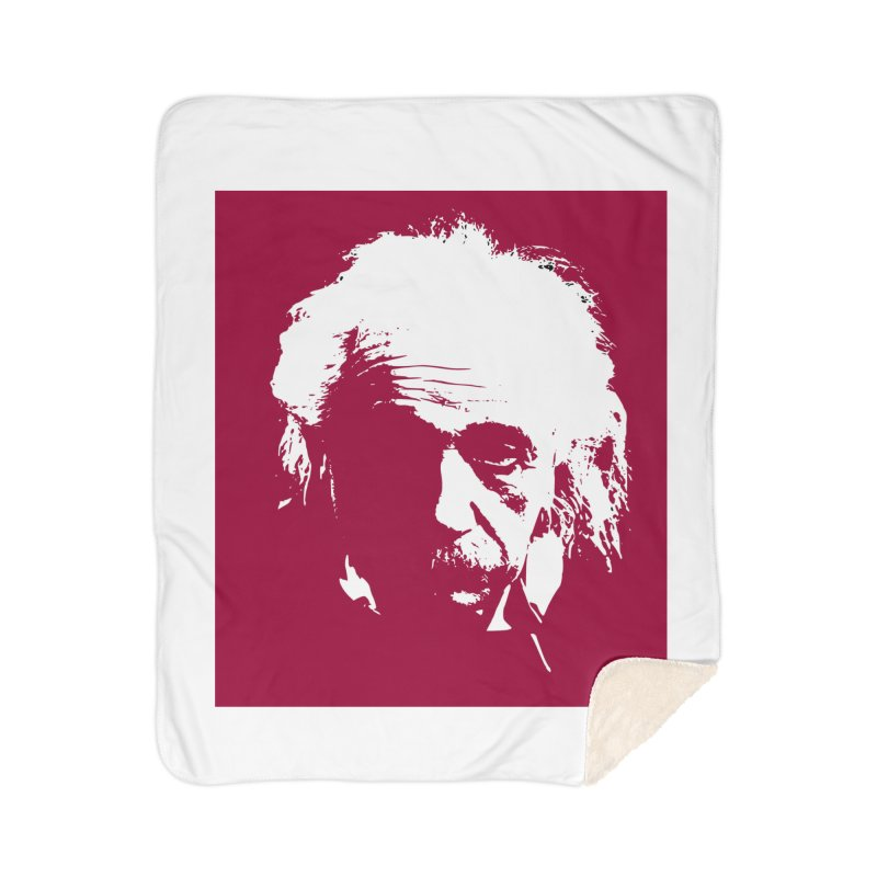 Albert Einstein Home Blanket by Matthew Lacey-icarusismartdesigns