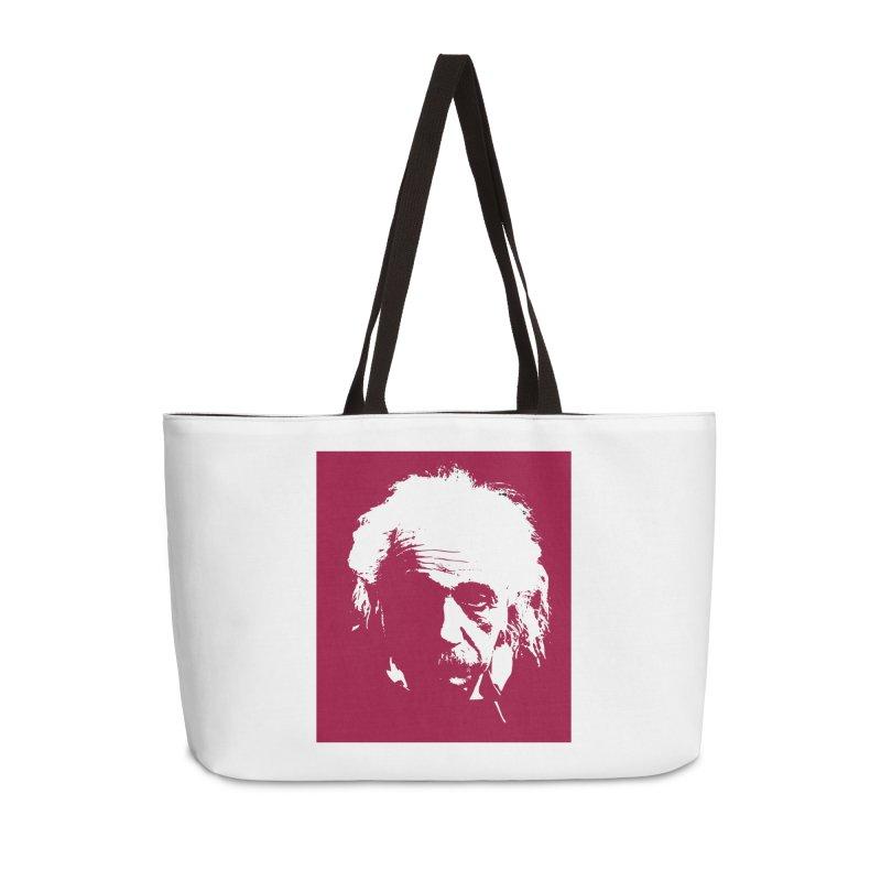 Albert Einstein Accessories Weekender Bag Bag by Matthew Lacey-icarusismartdesigns