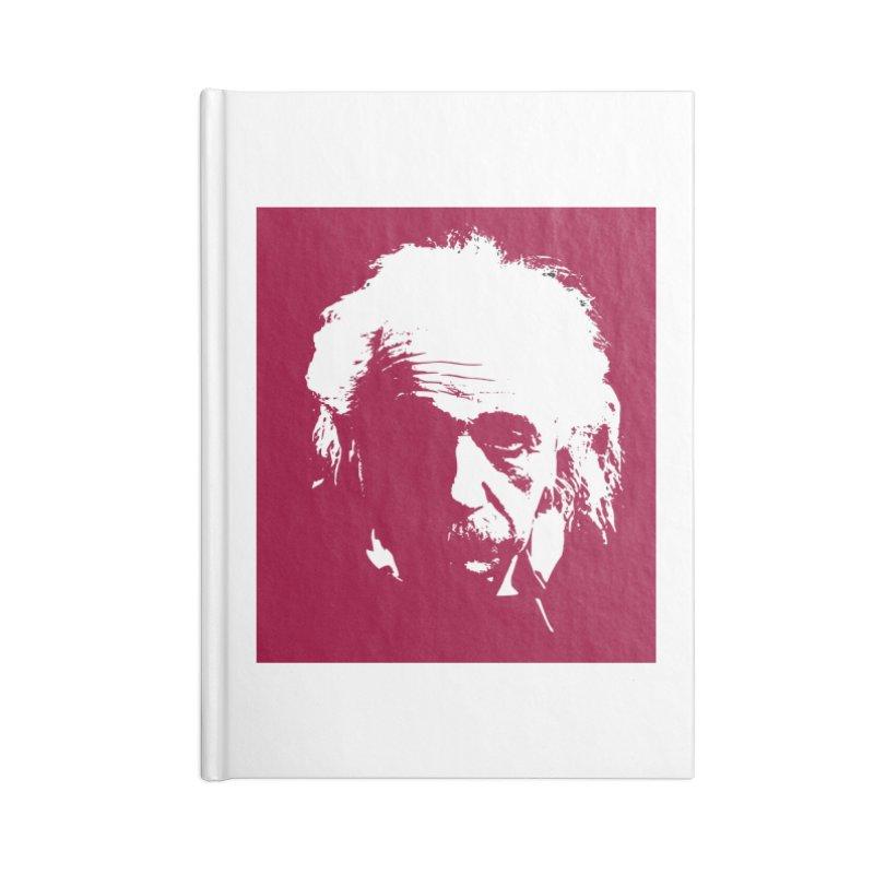 Albert Einstein Accessories Notebook by Matthew Lacey-icarusismartdesigns