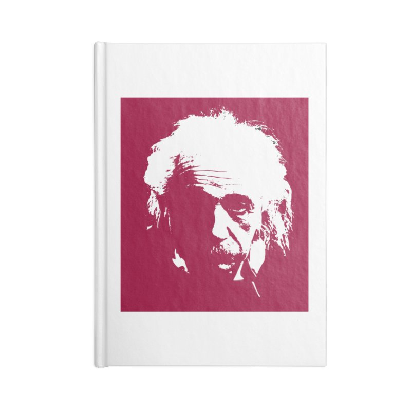 Albert Einstein Accessories Notebook by Matthew Lacey-icarusismartdesigns