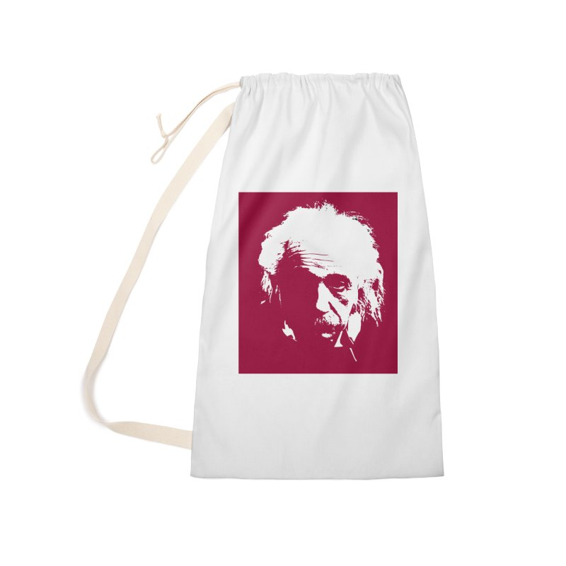 Albert Einstein Accessories Laundry Bag Bag by Matthew Lacey-icarusismartdesigns