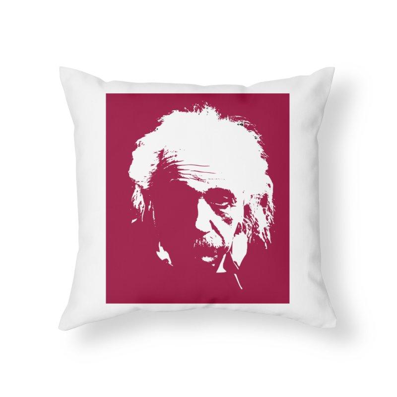 Albert Einstein Home Throw Pillow by Matthew Lacey-icarusismartdesigns
