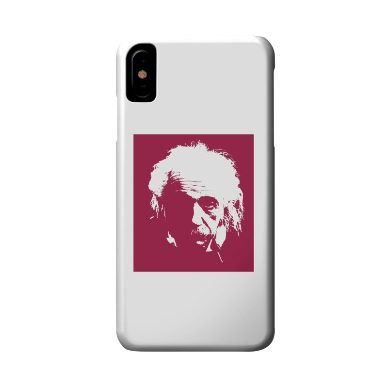 Albert Einstein Accessories Phone Case by Matthew Lacey-icarusismartdesigns