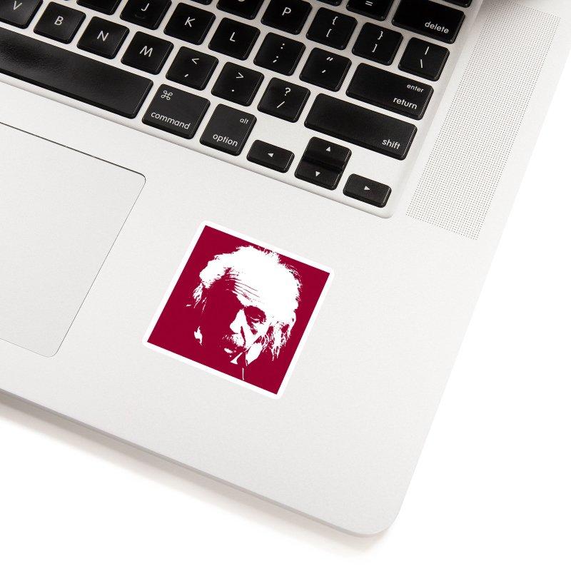 Albert Einstein Accessories Sticker by Matthew Lacey-icarusismartdesigns