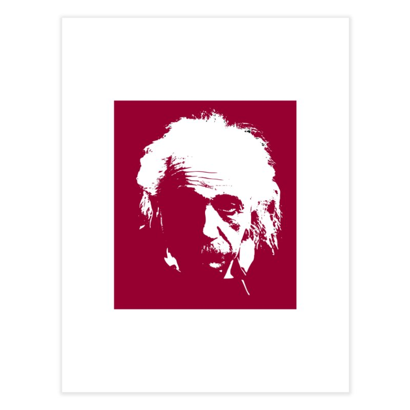 Albert Einstein Home Fine Art Print by Matthew Lacey-icarusismartdesigns