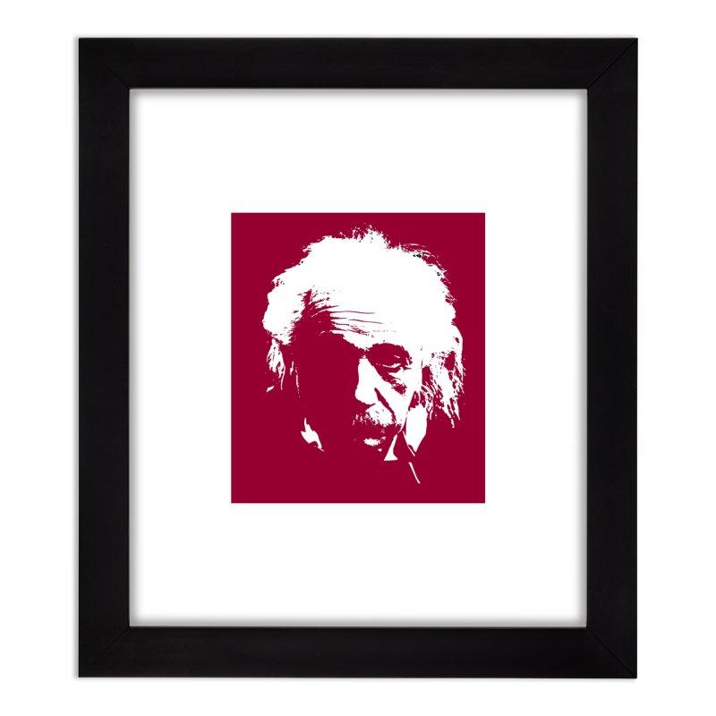 Albert Einstein Home Framed Fine Art Print by Matthew Lacey-icarusismartdesigns
