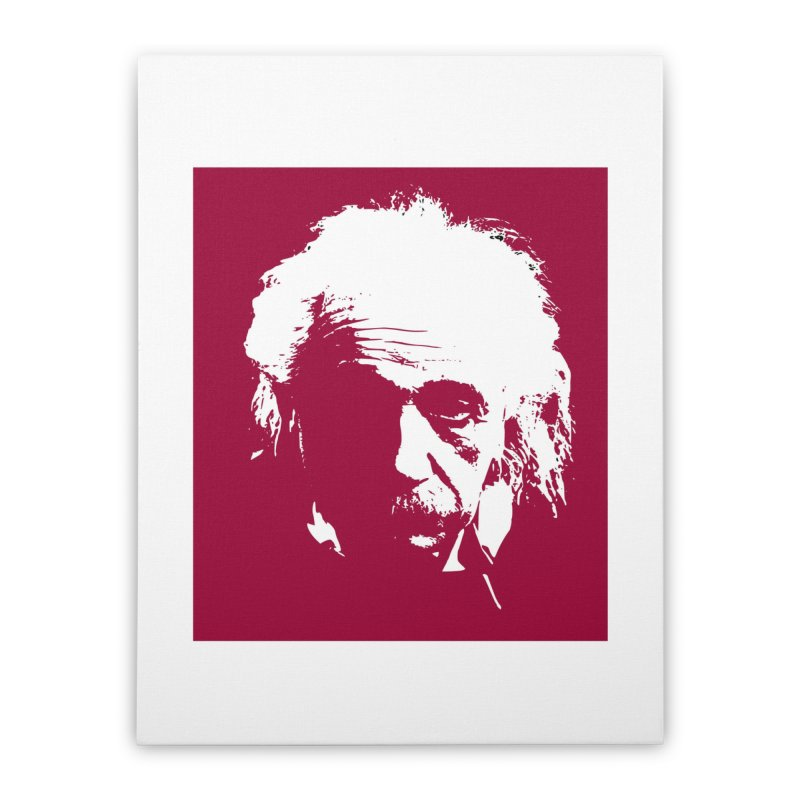 Albert Einstein Home Stretched Canvas by Matthew Lacey-icarusismartdesigns
