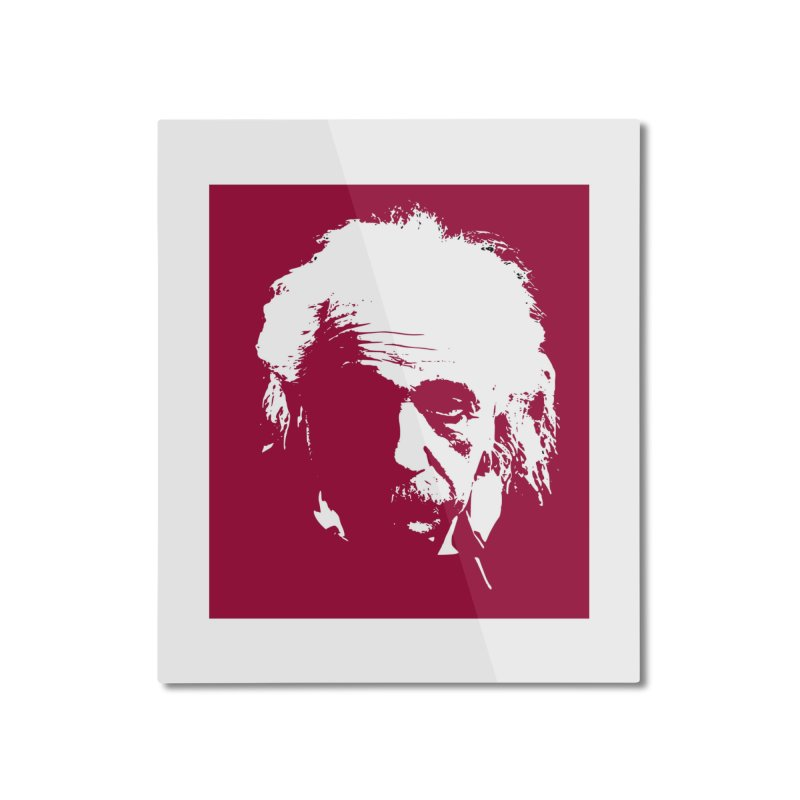 Albert Einstein Home Mounted Aluminum Print by Matthew Lacey-icarusismartdesigns