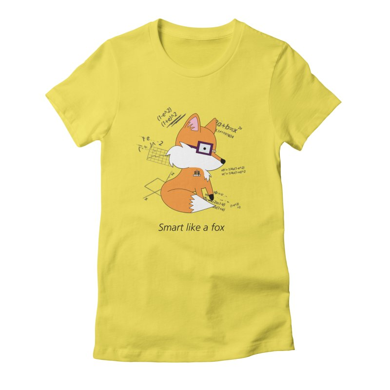 Smart like a Fox Women's Fitted T-Shirt by ichigomomo's Artist Shop