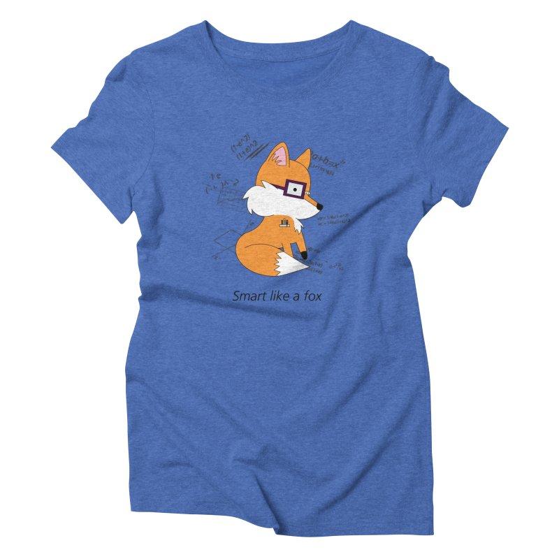 Smart like a Fox Women's Triblend T-shirt by ichigomomo's Artist Shop