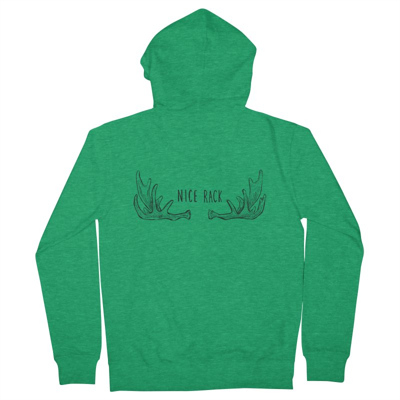 NICE RACK (Moose) Women's French Terry Zip-Up Hoody by iCKY the Great's Artist Shop