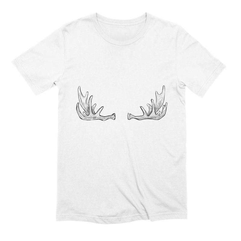 NICE RACK (Moose, no text) Men's Extra Soft T-Shirt by iCKY the Great's Artist Shop