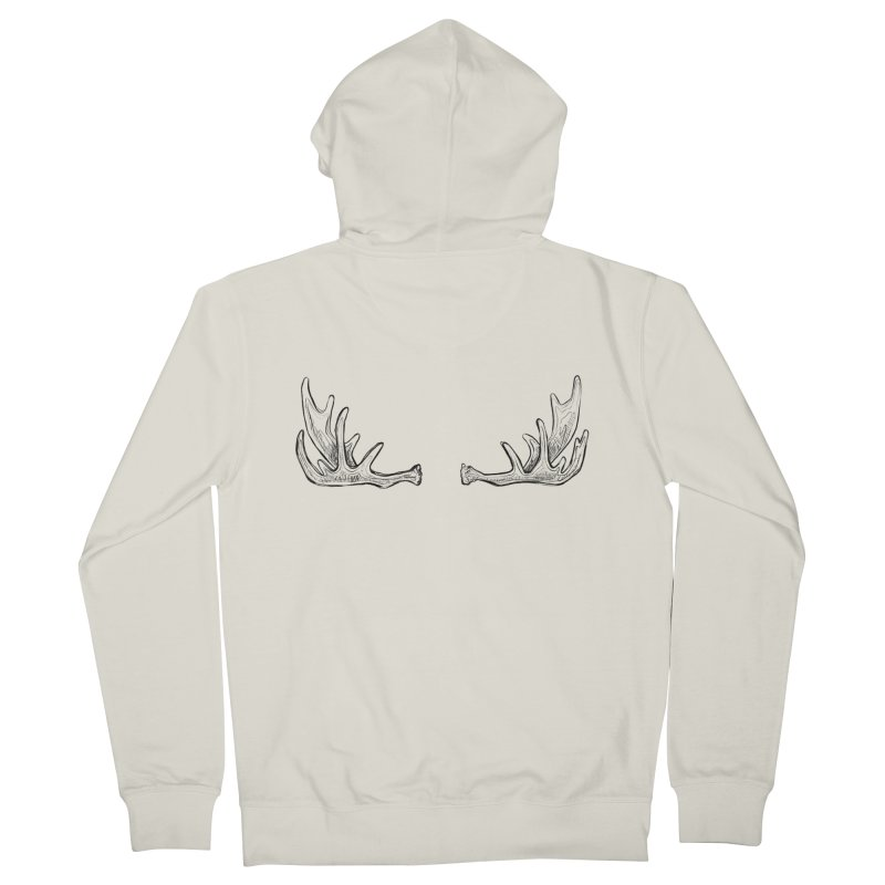 NICE RACK (Moose, no text) Women's French Terry Zip-Up Hoody by iCKY the Great's Artist Shop