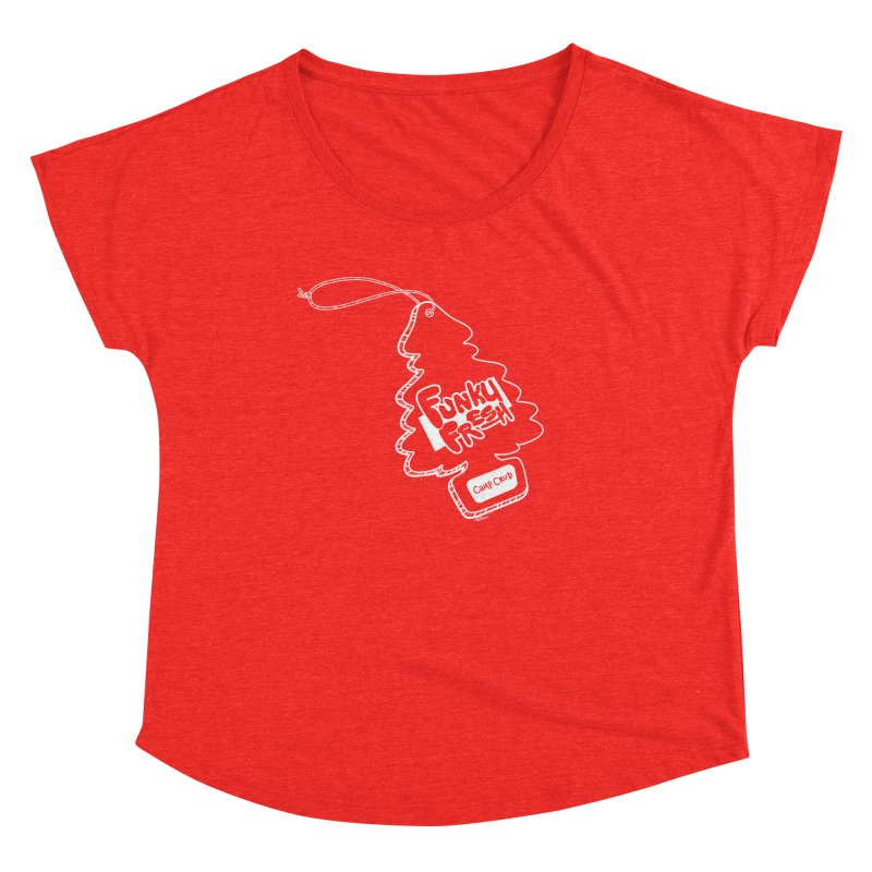 FUNKY FRESH (Camp Crud Edition) Women's Scoop Neck by iCKY the Great's Artist Shop