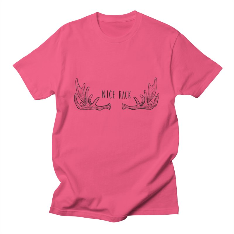 NICE RACK (text) Men's T-Shirt by iCKY the Great's Artist Shop