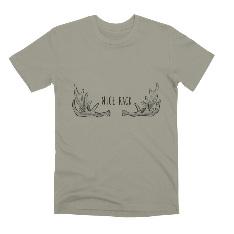 NICE RACK (text) Men's Premium T-Shirt by iCKY the Great's Artist Shop
