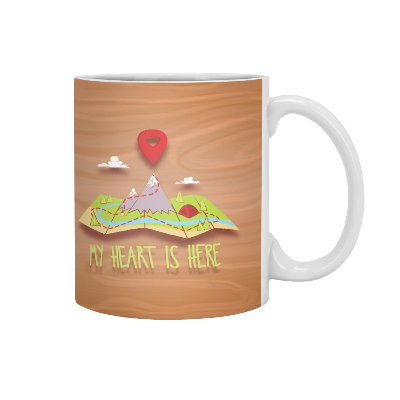 MY HEART IS HERE Accessories Mug by iCKY the Great's Artist Shop