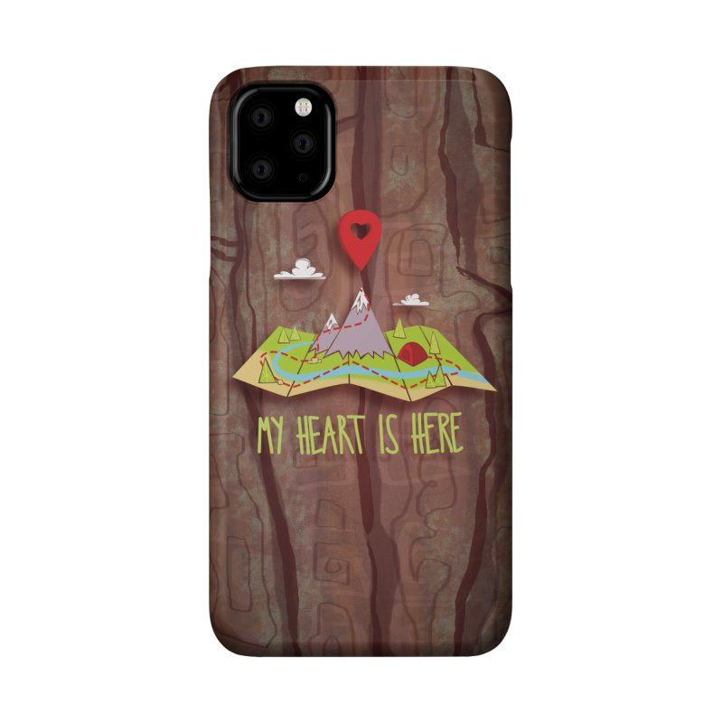 MY HEART IS HERE Accessories Phone Case by iCKY the Great's Artist Shop
