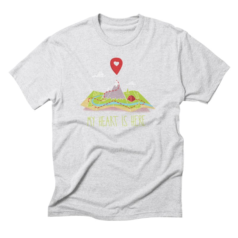 MY HEART IS HERE Men's T-Shirt by iCKY the Great's Artist Shop