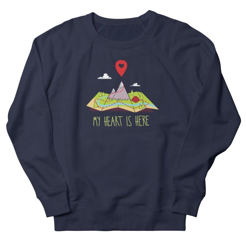 MY HEART IS HERE Women's Sweatshirt by iCKY the Great's Artist Shop