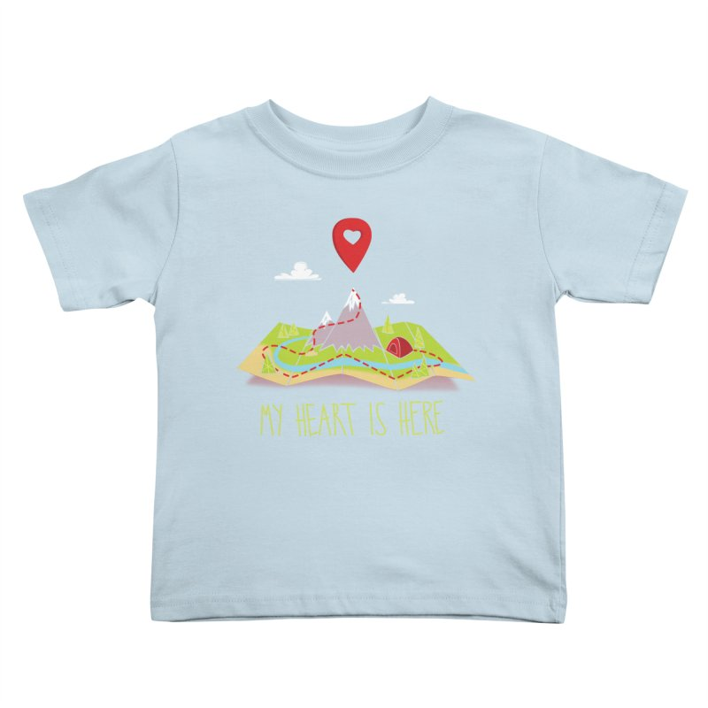 MY HEART IS HERE Kids Toddler T-Shirt by iCKY the Great's Artist Shop