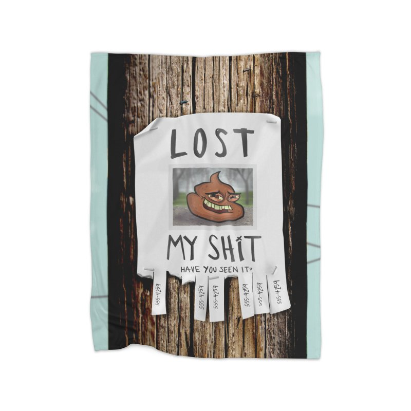 LOST MY SHiT Home Fleece Blanket Blanket by iCKY the Great's Artist Shop