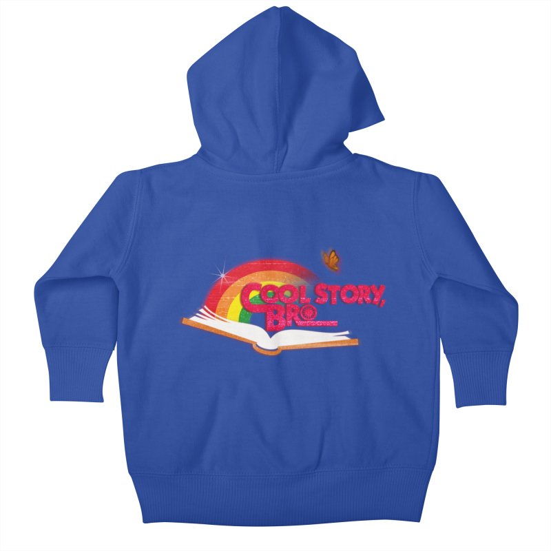 COOL STORY, BRO Kids Baby Zip-Up Hoody by iCKY the Great's Artist Shop