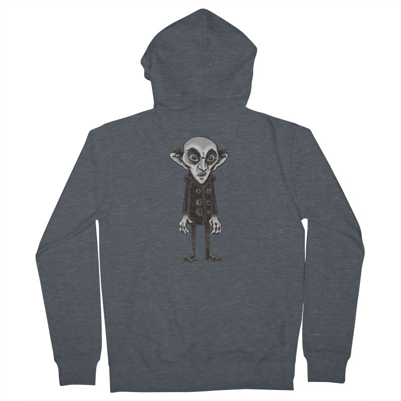 CUTE NOSFERATU Women's French Terry Zip-Up Hoody by iCKY the Great's Artist Shop