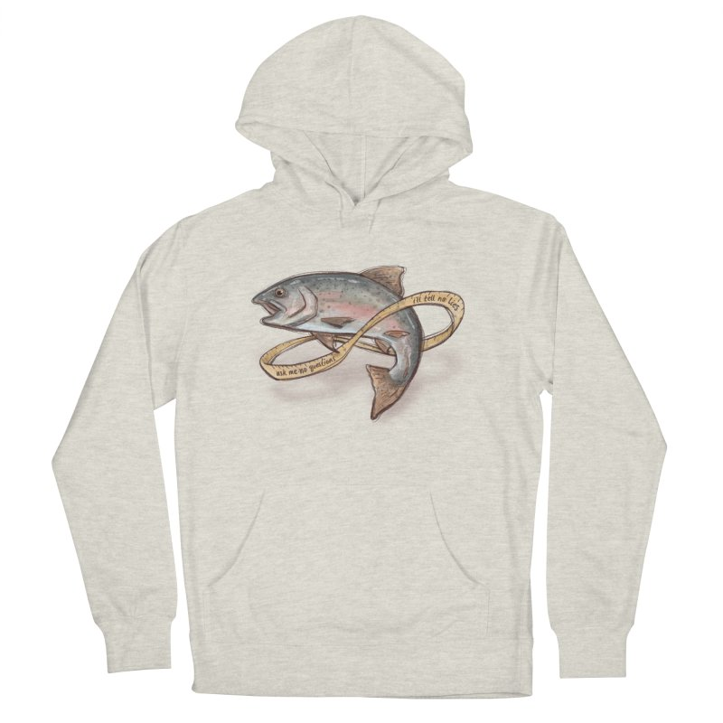 FISHING TRUTHS Women's French Terry Pullover Hoody by iCKY the Great's Artist Shop