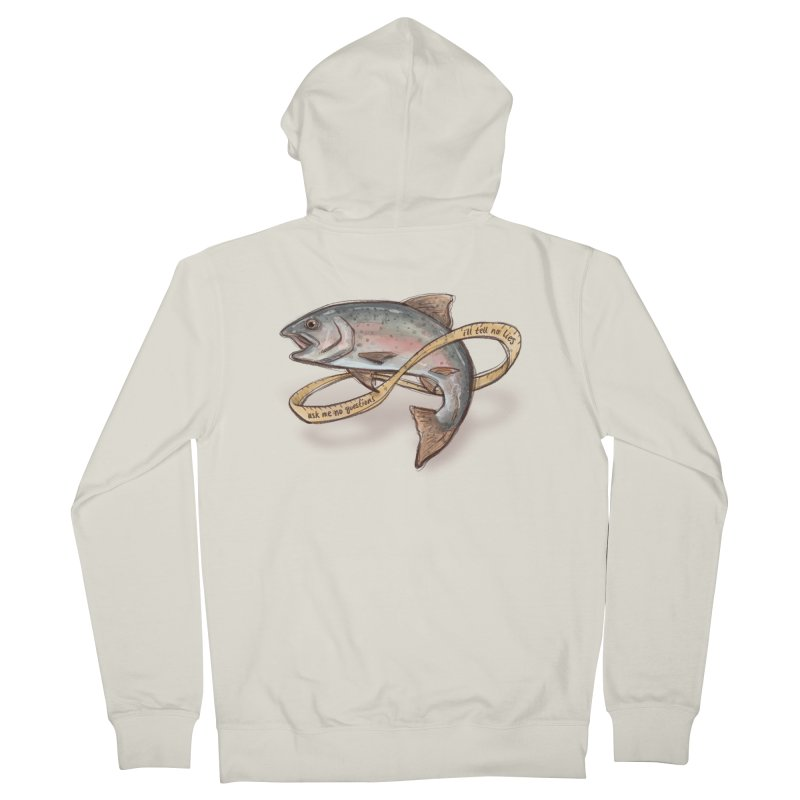 FISHING TRUTHS Women's French Terry Zip-Up Hoody by iCKY the Great's Artist Shop