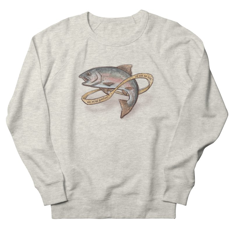 FISHING TRUTHS Men's French Terry Sweatshirt by iCKY the Great's Artist Shop