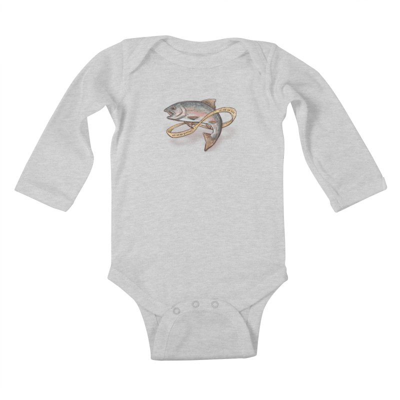 FISHING TRUTHS Kids Baby Longsleeve Bodysuit by iCKY the Great's Artist Shop