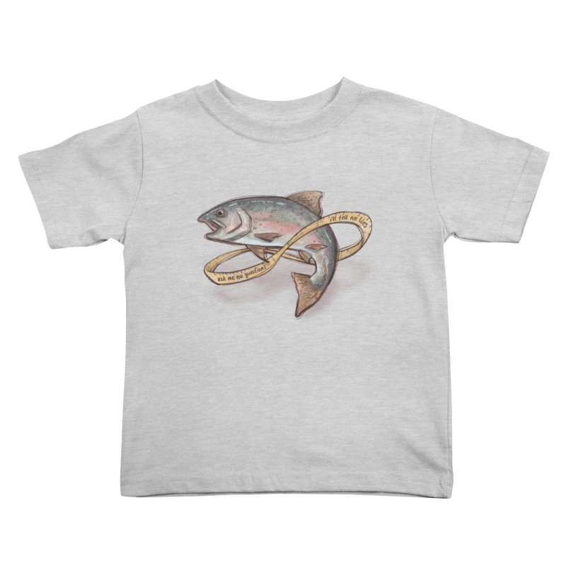 FISHING TRUTHS Kids Toddler T-Shirt by iCKY the Great's Artist Shop
