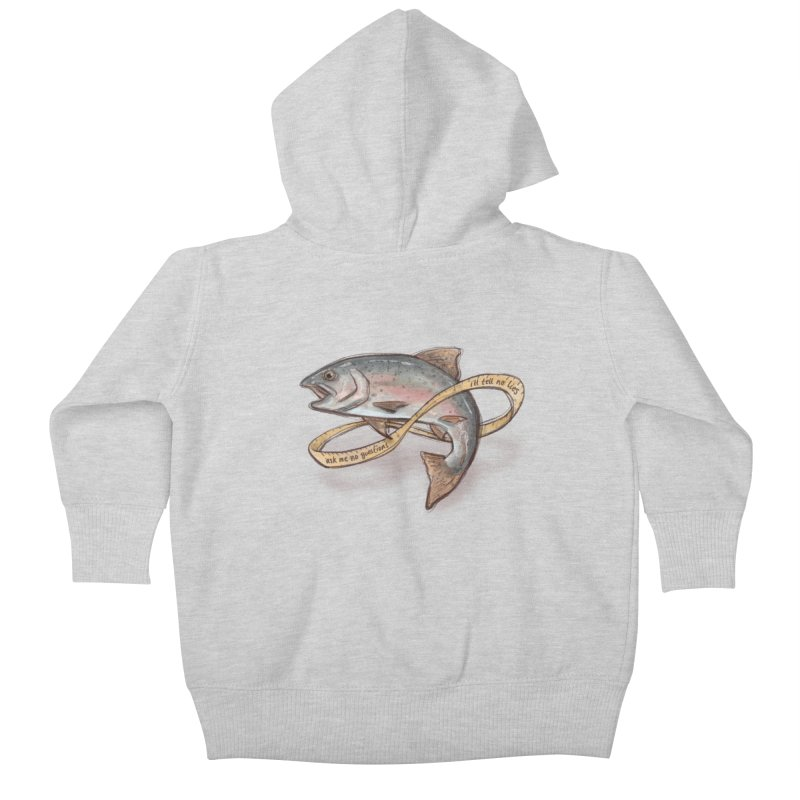 FISHING TRUTHS Kids Baby Zip-Up Hoody by iCKY the Great's Artist Shop