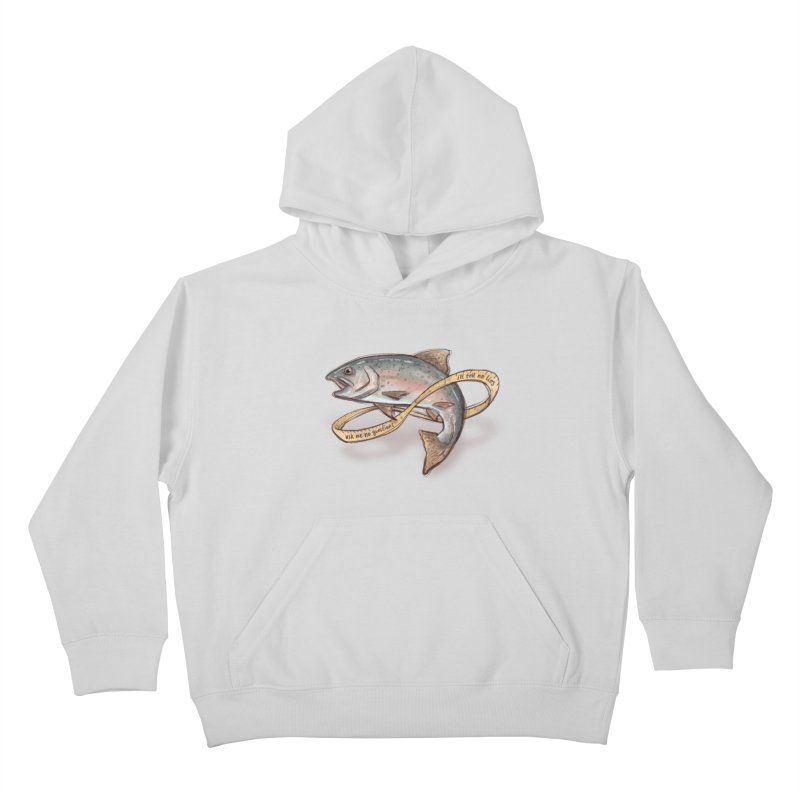 FISHING TRUTHS Kids Pullover Hoody by iCKY the Great's Artist Shop