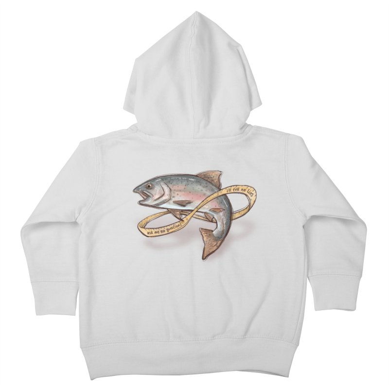 FISHING TRUTHS Kids Toddler Zip-Up Hoody by iCKY the Great's Artist Shop