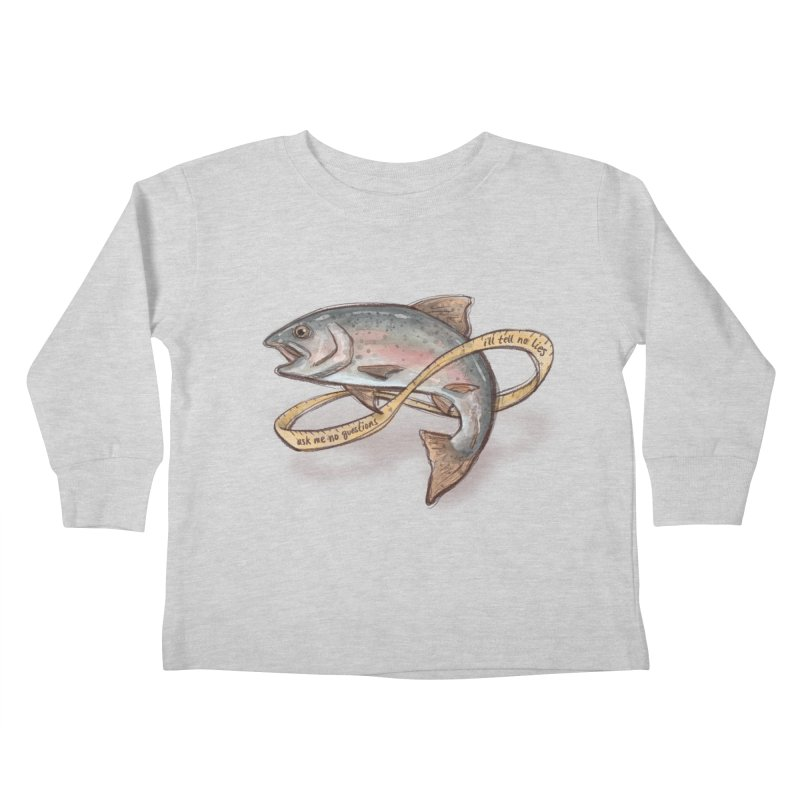 FISHING TRUTHS Kids Toddler Longsleeve T-Shirt by iCKY the Great's Artist Shop