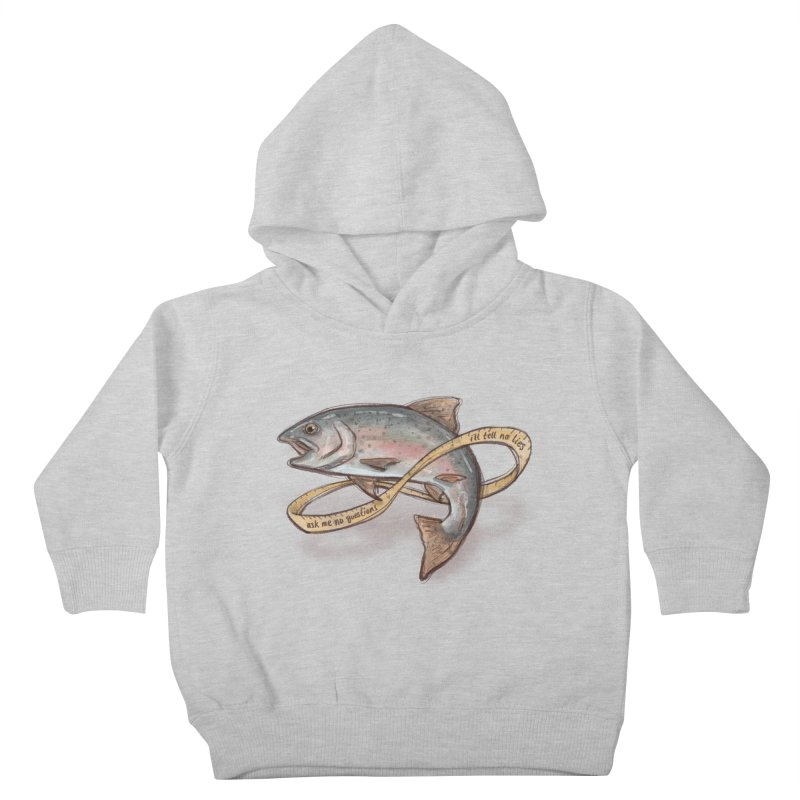 FISHING TRUTHS Kids Toddler Pullover Hoody by iCKY the Great's Artist Shop