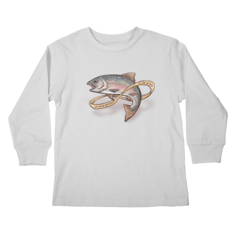FISHING TRUTHS Kids Longsleeve T-Shirt by iCKY the Great's Artist Shop