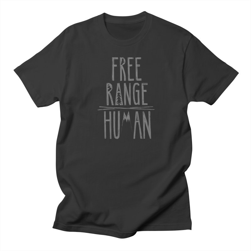 FREE RANGE HUMAN Men's Regular T-Shirt by iCKY the Great's Artist Shop