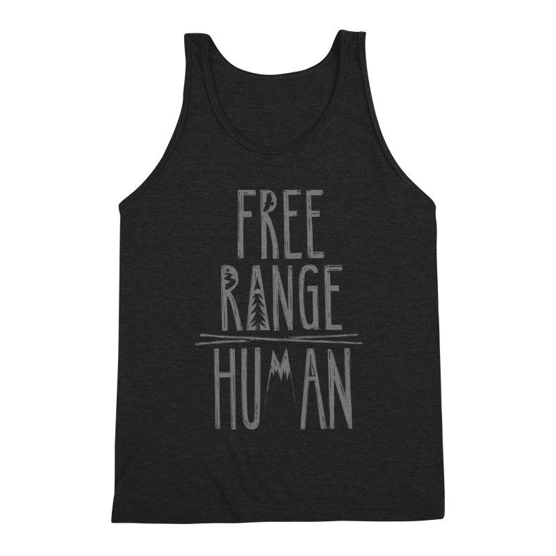FREE RANGE HUMAN Men's Triblend Tank by iCKY the Great's Artist Shop