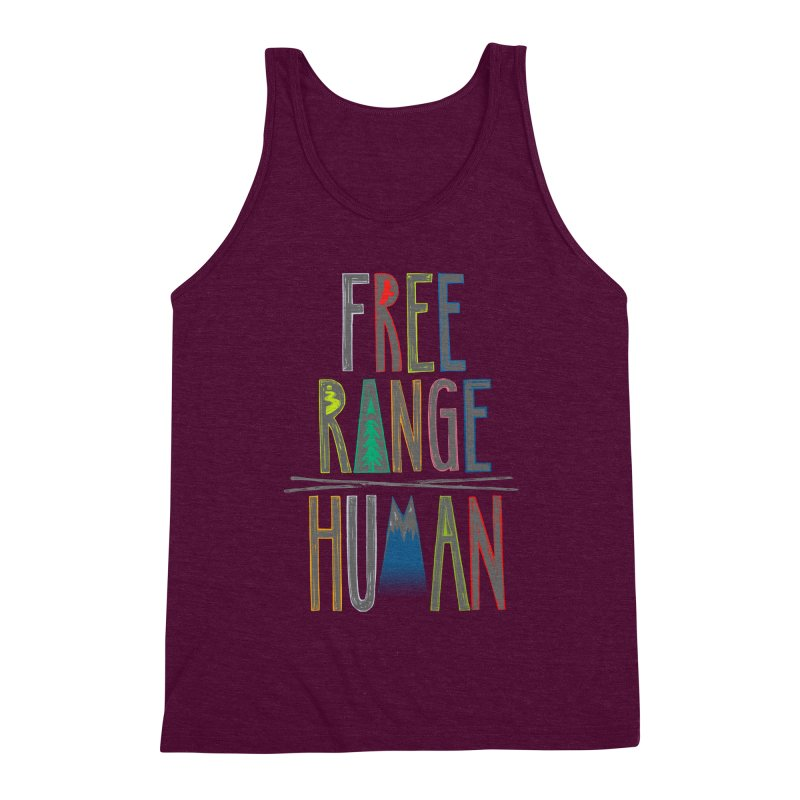 FREE RANGE HUMAN (party edition) Men's Triblend Tank by iCKY the Great's Artist Shop