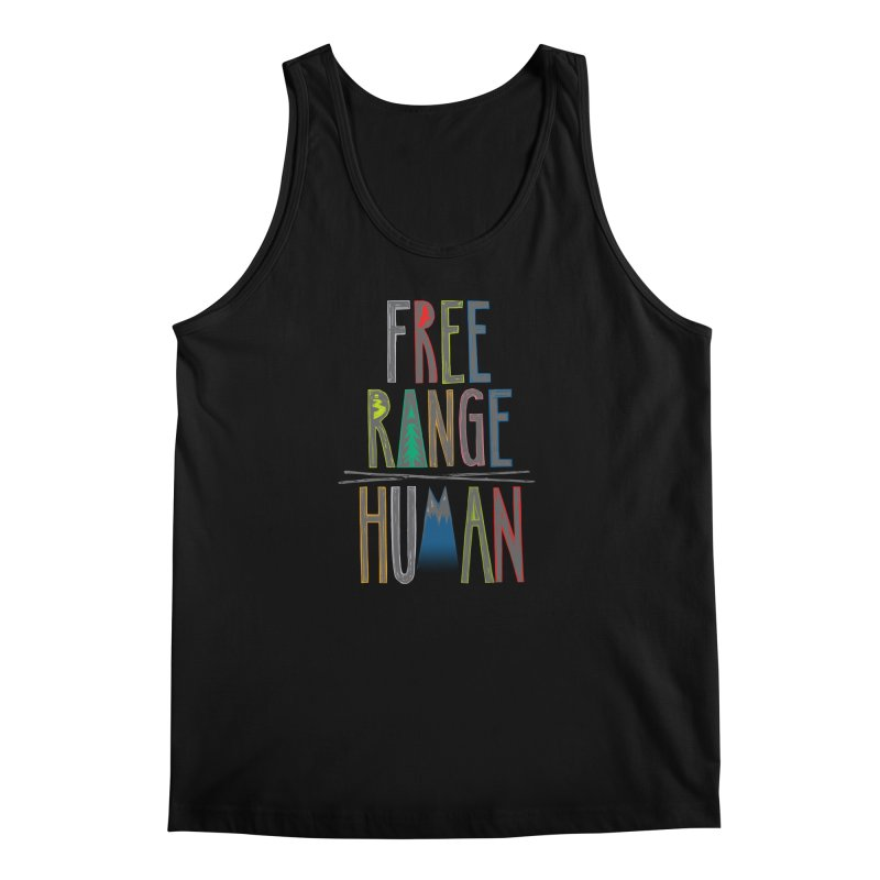 FREE RANGE HUMAN (party edition) Men's Regular Tank by iCKY the Great's Artist Shop