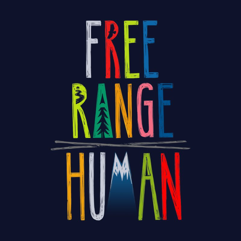 FREE RANGE HUMAN (super party edition) Men's Zip-Up Hoody by iCKY the Great's Artist Shop