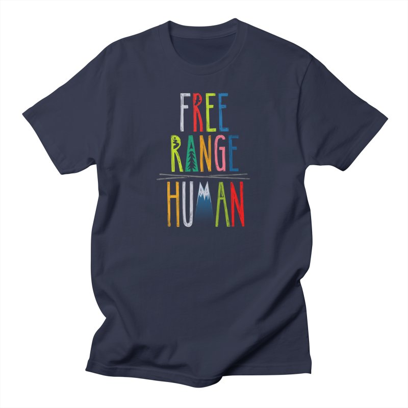 FREE RANGE HUMAN (super party edition) Men's T-Shirt by iCKY the Great's Artist Shop