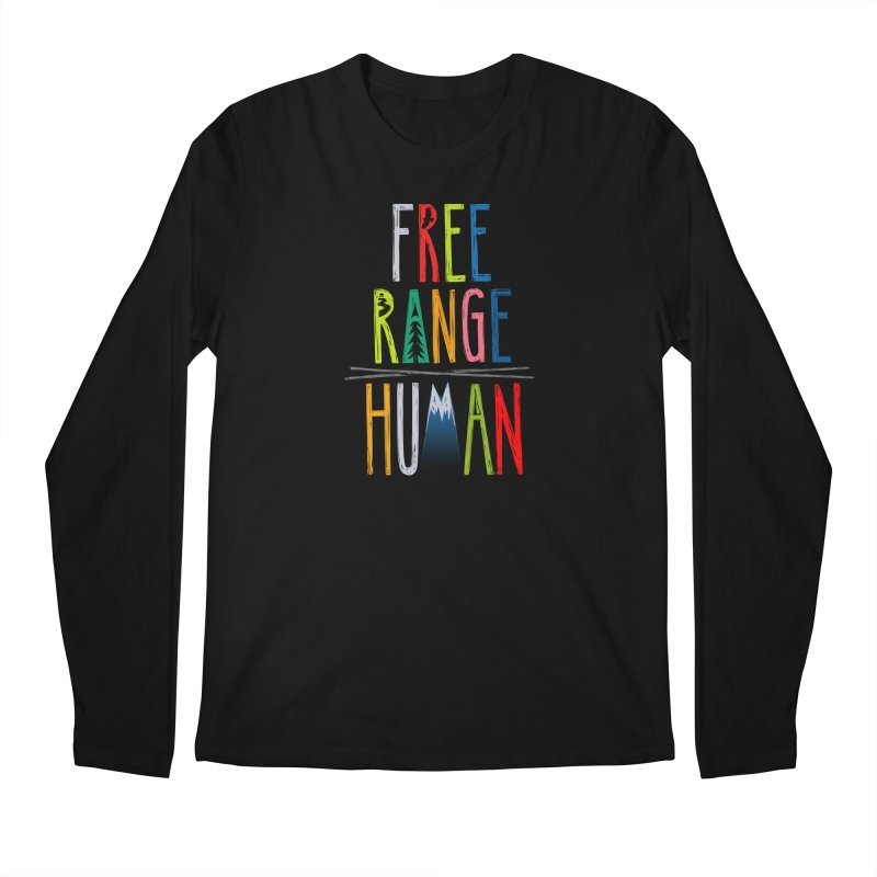 FREE RANGE HUMAN (super party edition) Men's Regular Longsleeve T-Shirt by iCKY the Great's Artist Shop