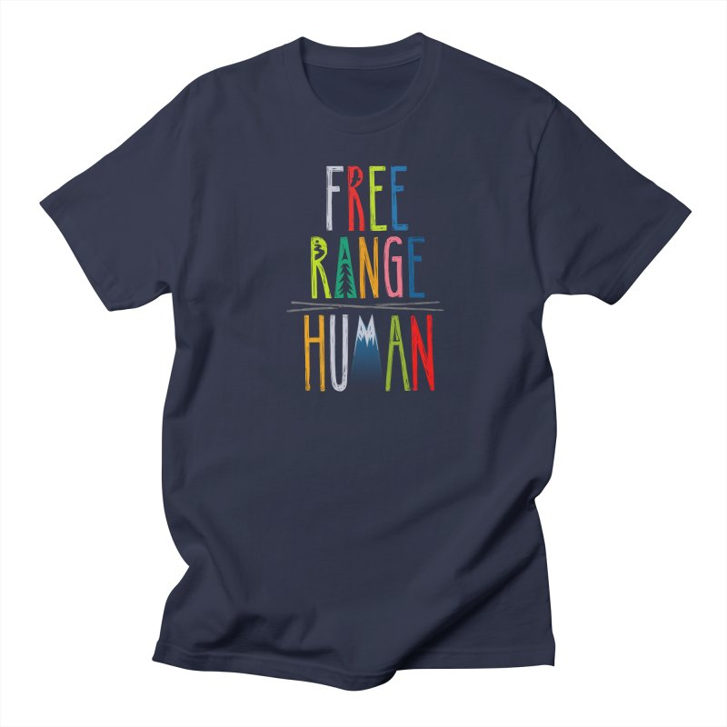FREE RANGE HUMAN (super party edition) Men's Regular T-Shirt by iCKY the Great's Artist Shop