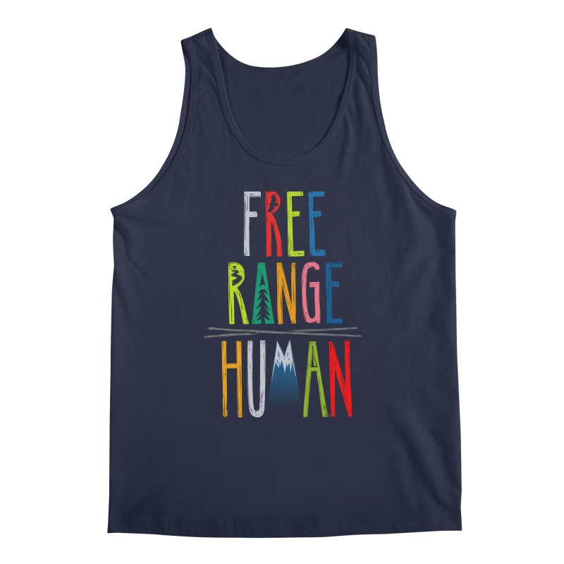 FREE RANGE HUMAN (super party edition) Men's Tank by iCKY the Great's Artist Shop